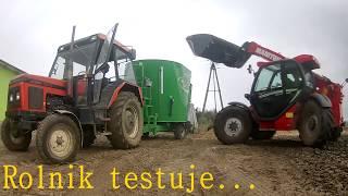 Rolnik Testuje... Wóz paszowy Samasz OptiFEED Uno 1000 test wozu paszowego