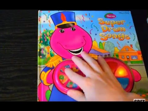BARNEY SUPER DRUM SONGS PLAYASONG BOOK A HELPING HAND FOR GROWING CHILDREN MUSIC NURSERY RHYMES