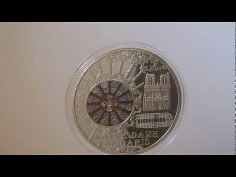 Cook Islands 2011 $10 Windows of Heaven Notre Dame de Paris Silver Coin