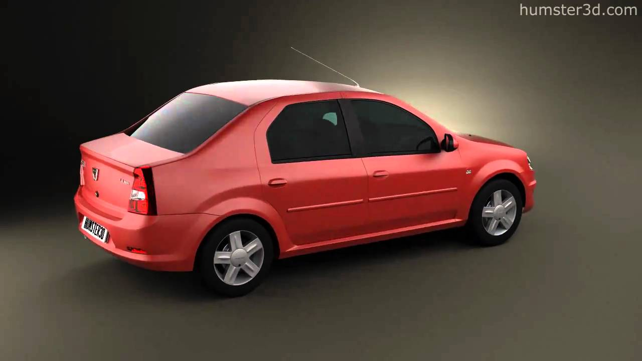 Top Dacia Renault Logan 2010 by 3D model store Humster3D.com - YouTube EU78