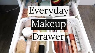Everyday Makeup Drawer July 2018
