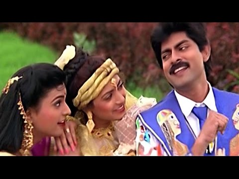 Subhalagnam Movie || Ghallu Ghallu Gajje Video Song || Jagapathi Babu, Aamani, Roja