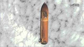 STS-134 Endevour - The External Tank in Space after it is detached from the Shuttle in orbit