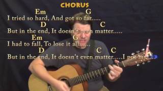 In The End (Linkin Park) Guitar Cover Lesson in Em with Chords/Lyrics - Munson