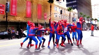 Army of Spidermans Photo Bomb PRANK!