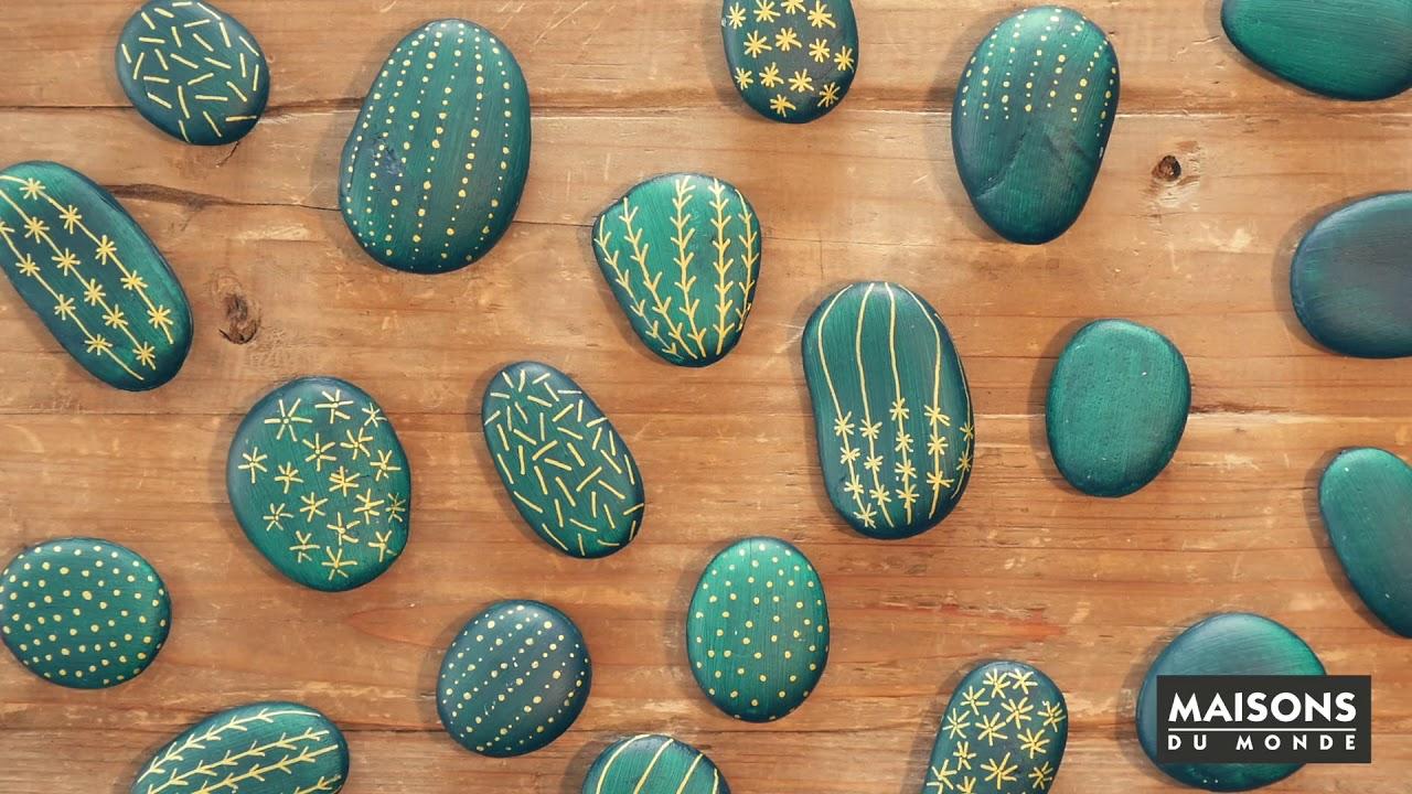 comment cr er un cactus artificiel avec des galets maisons du monde youtube. Black Bedroom Furniture Sets. Home Design Ideas