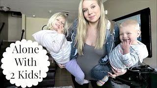 DAD LEFT! - Alone with 2 kids!