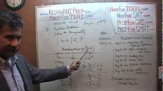 TEAS V, Math Day 60, p109, Algebra Absolute Values, Nursing Online Test Prep Tutor GRE, GMAT, SAT