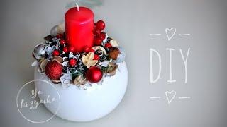 Новогодний подсвечник своими руками 🕯. DIY. Christmas candlestick with your own hands 🕯.