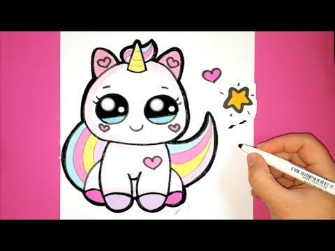 How to draw a baby unicorn easy step by