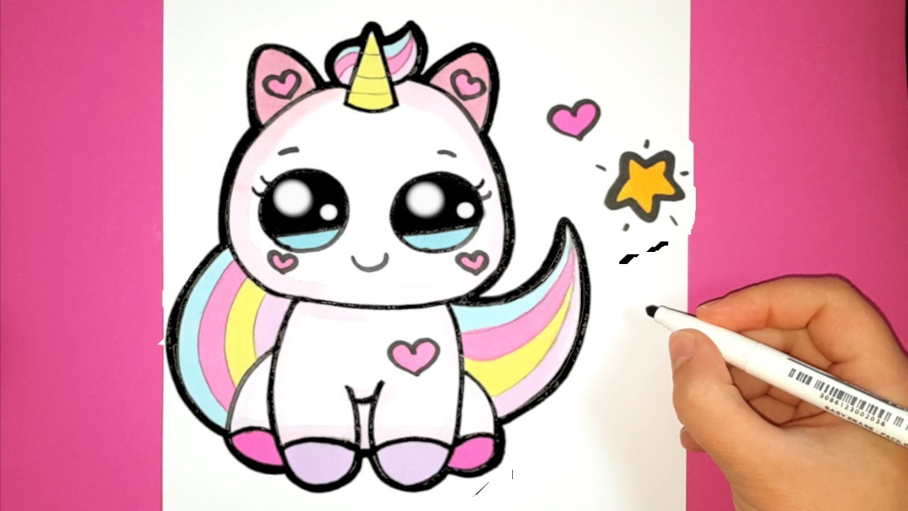 How to Draw a Cute Baby Unicorn - SUPER EASY - HAPPY DR ...