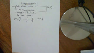 Complete and Incomplete Metric Spaces Part 1