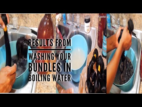 Does Cleaning Your Weave In Boiling Water Works |