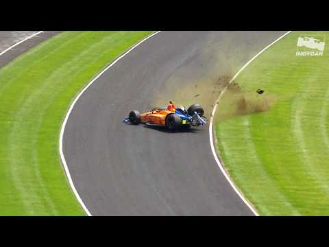 Raw Video: Fernando Alonso crashes during 2019 Indy 500 practice