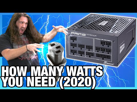 Wasting Money on Power Supplies: How Many Watts You Need for a PC PSU (2020)