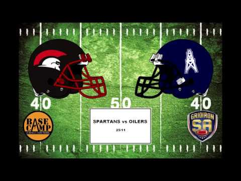 Gridiron SA 2017 Round 12 - Port Adelaide Spartans vs Southern District Oilers