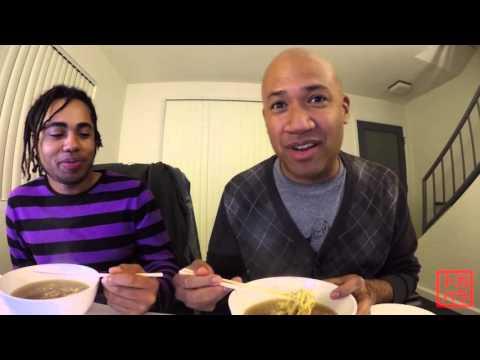 アメリカ人のラーメンの食べ方