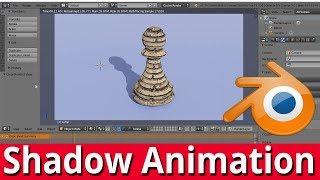 Blender tutorial shadow animation animating a shadow