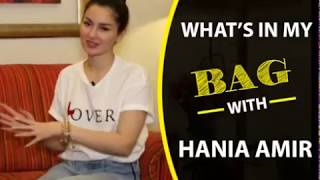"""What's In My Bag"" with Hania Amir 