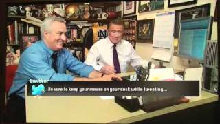 leo laporte the tech guy teaches regis to tweet on live with regis and kelly february 1st 2011