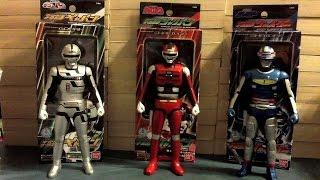 Space Sheriff Gavan, Sharivan, and Shaider Vinyl Hero Figures Review
