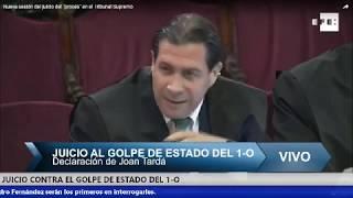 JUICIO CONTRA EL GOLPE DE ESTADO TURNO DE RAJOY,SORAYA,MONTORO, MAS Y TARDÁ