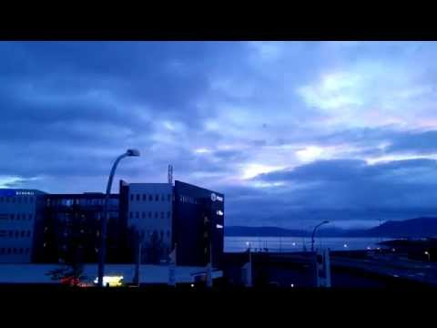 A 24h time-lapse in Reykjavik