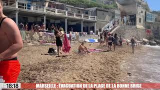 Marseille : la plage de la Bonne Brise évacuée par les CRS pour faire respecter l'interdiction