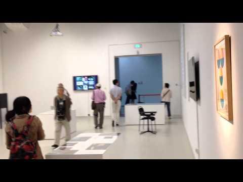 "Roy Ascott's exhibition: ""Syncretic Cybernetics"" in the 9th Shanghai Biennale 2012/13.MOV"