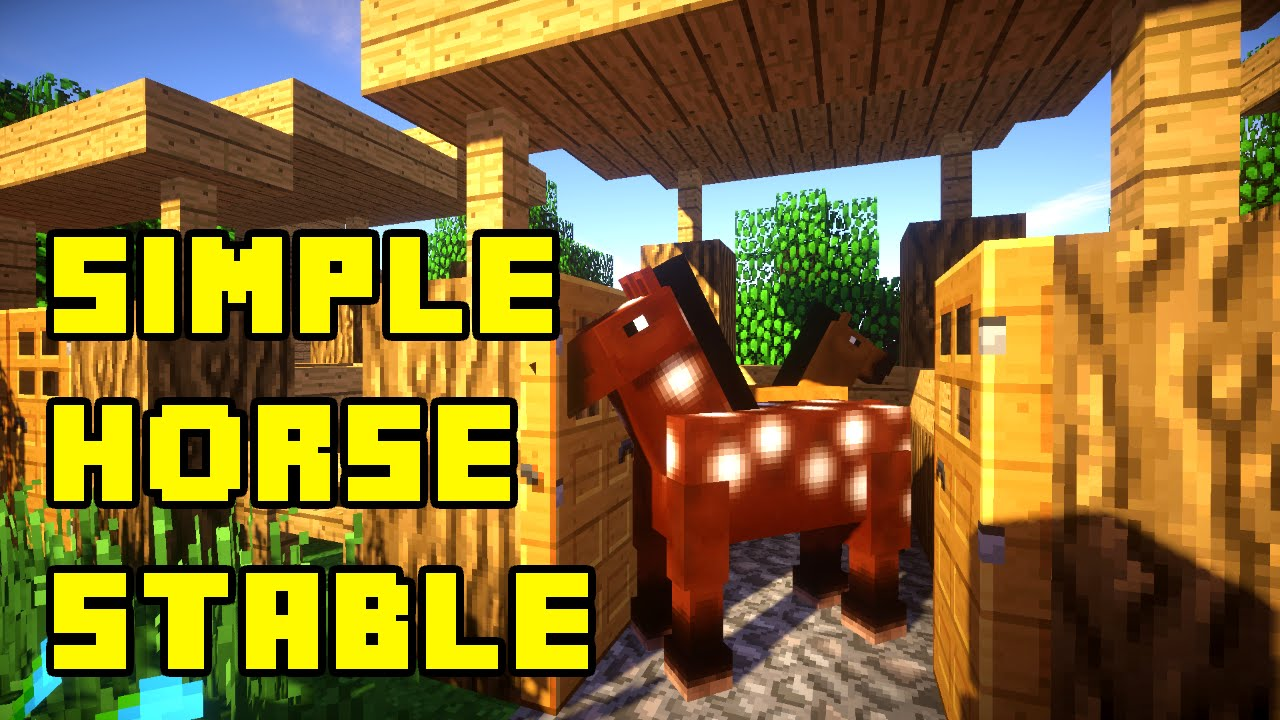 Minecraft Simple Horse Stable Tutorial Xboxpepcps3ps4
