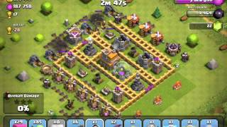 Two level 2 Dragon Attack (Clash of clans gameplay)
