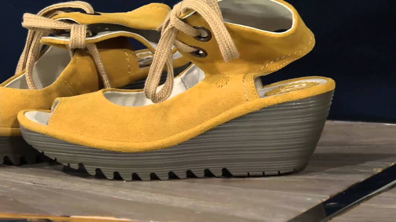 4d70df856e5a Fly London Leather Lace-up Ankle Strap Sandals - Yaffa on QVC - YouTube