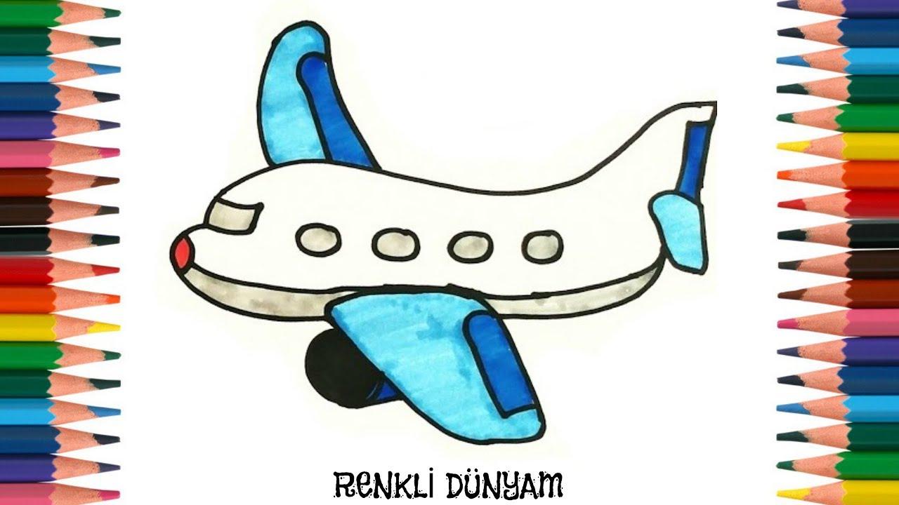 Uçak Nasıl çizilir Uçak çizimi How To Draw A Plane Renkli Dünyam