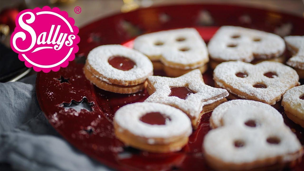Linzer Weihnachtsplätzchen.Linzer Plätzchen Mit Marmelade Hildabrötchen Spitzbuben Sallys Welt