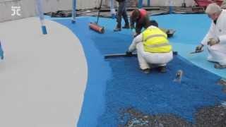 Como Instalar suelo de Goma parques infantiles | Playtop