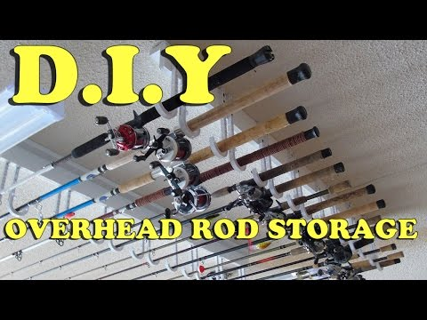 DIY: How To Build A Cheap, Easy Overhead Fishing Rod Storage Rack