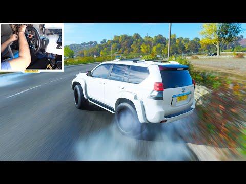 Toyota Land Cruiser Prado Drifting - Forza Horizon 4 | Logitech g29 gameplay