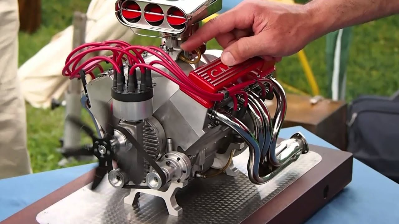 mini cnc 4 axis and miniature chevrolet v8 super sound