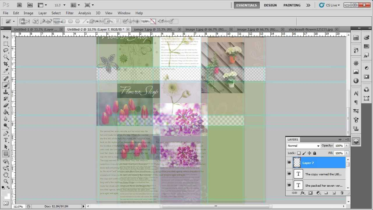 How to design a tri fold brochure in adobe photoshop youtube for How to design a brochure in photoshop