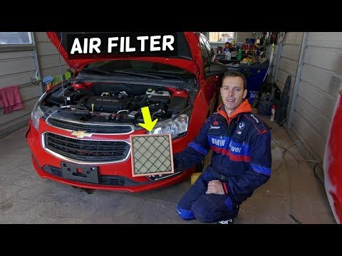 CHEVROLET CRUZE AIR FILTER REPLACEMENT.  CHEVY CRUZE