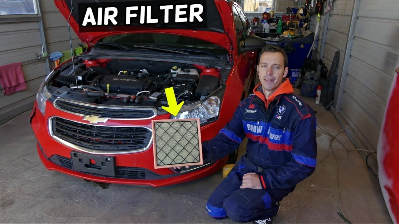 Chevrolet Cruze Air Filter Replacement Chevy Cruze Youtube