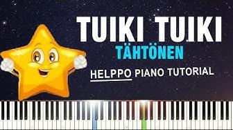 TUIKI TUIKI TÄHTÖNEN - Piano Tutorial