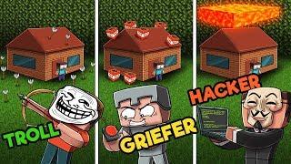 Minecraft | PRANK WAR CHALLENGE! (HACKER vs. TROLL vs. GRIEFER)