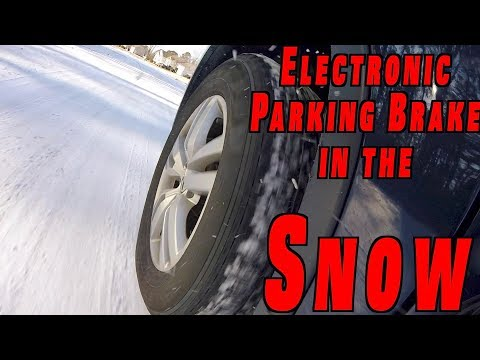 How Electronic Parking Brake/Emergency Brake Works On Snow