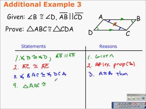 4 3 Triangle Congruence By Angle Angle Side And Angle Side