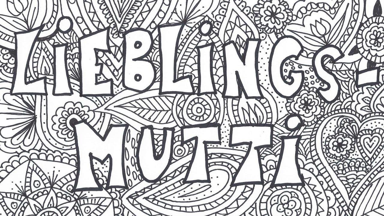 Muttertag Mandala Zeichnen Lieblingsmutti Speed Drawing Malvorlage Kostenlos Ausdrucken
