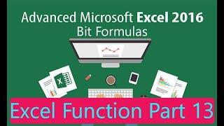 MS Excel 2019 Bit Formulas | Excel function part 13