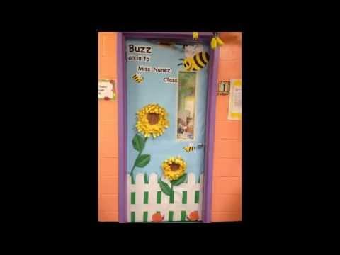Classroom door decorations for spring