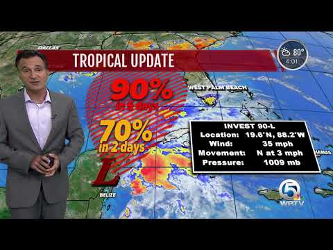 Update on a tropical disturbance in the Gulf