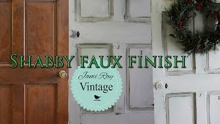 How To Paint A Door | Shabby Chic